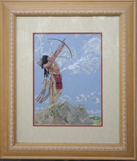 Indian Cross Stitch Framed